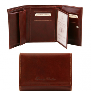 Tuscany Leather TL140790 Exclusive leather wallet for women Brown