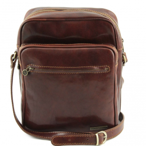 Tuscany Leather TL140680 Oscar - Exclusive Leather Crossbody Bag Brown