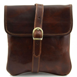 Tuscany Leather TL140987 Joe - Leather Crossbody Bag Brown