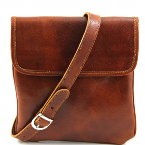 Tuscany Leather TL140987 Joe - Leather Crossbody Bag Honey