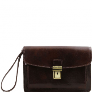 Tuscany Leather TL8075 Max - Sacoche en cuir Marron foncé