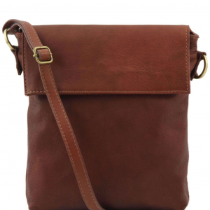 Tuscany Leather TL141511 Morgan - Leather shoulder bag Brown