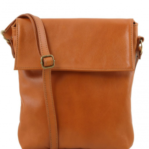 Tuscany Leather TL141511 Morgan - Leather shoulder bag Cognac