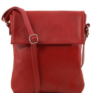 Tuscany Leather TL141511 Morgan - Leather shoulder bag Red