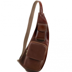 Tuscany Leather TL141352 Leather crossover bag Brown