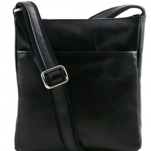 Tuscany Leather TL141300 Jason - Leather Crossbody Bag Black