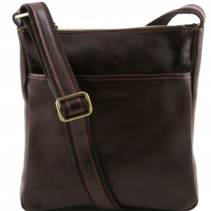 Tuscany Leather TL141300 Jason - Leather Crossbody Bag Dark Brown