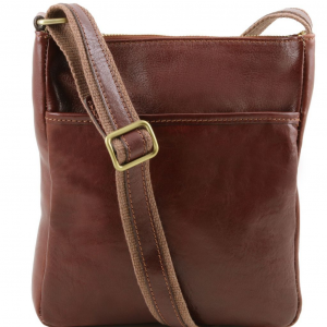Tuscany Leather TL141300 Jason - Leather Crossbody Bag Brown