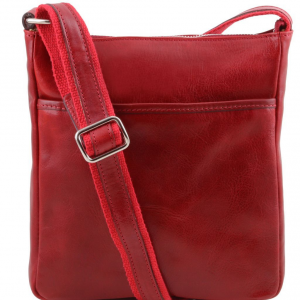Tuscany Leather TL141300 Jason - Leather Crossbody Bag Red