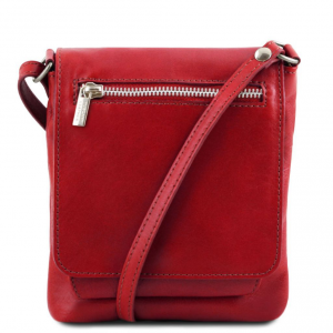 Tuscany Leather TL141510 Sasha - Unisex soft leather shoulder bag Red