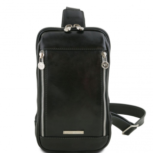Tuscany Leather TL141536 Martin - Leather crossover bag Black