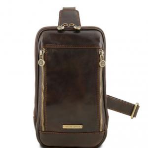 Tuscany Leather TL141536 Martin - Sac bandoulière en cuir Marron foncé