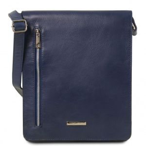 Tuscany Leather TL141723 Cesare - Soft leather shoulder bag Dark Blue