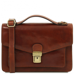 Tuscany Leather TL141443 Eric - Leather Crossbody Bag Brown