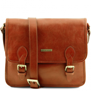 Tuscany Leather TL141288 TL Postman - Borsa messenger in pelle Miele