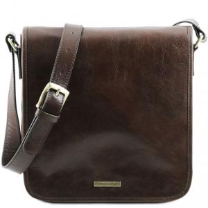 Tuscany Leather TL141260 TL Messenger - Sac bandoulière en cuir 1 compartiment Marron foncé