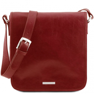 Tuscany Leather TL141260 TL Messenger - One compartment leather shoulder bag Red