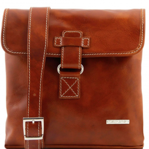 Tuscany Leather TL9087 Andrea - Borsello in pelle a tracolla Miele