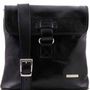 Tuscany Leather TL9087 Andrea - Leather Crossbody Bag Black