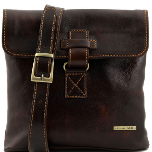 Tuscany Leather TL9087 Andrea - Leather Crossbody Bag Dark Brown