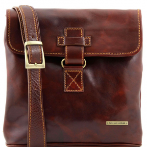 Tuscany Leather TL9087 Andrea - Leather Crossbody Bag Brown