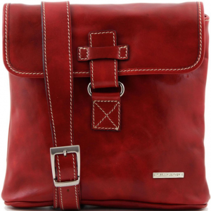 Tuscany Leather TL9087 Andrea - Borsello in pelle a tracolla Rosso
