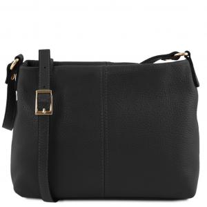 Tuscany Leather TL141720 TL Bag - Soft leather shoulder bag Black