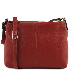 Tuscany Leather TL141720 TL Bag - Soft leather shoulder bag Red