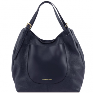 Tuscany Leather TL141515 Cinzia - Soft leather shopping bag Dark Blue