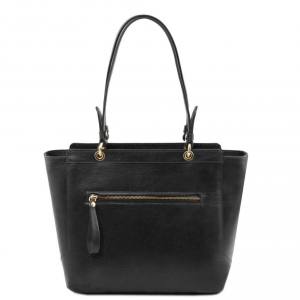 Tuscany Leather TL141231 TL NeoClassic - Leather tote with two handles Black