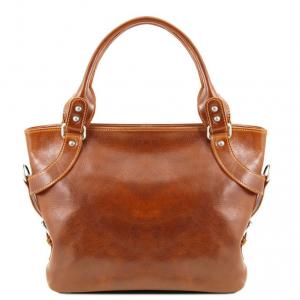 Tuscany Leather TL140899 Ilenia - Leather shoulder bag Honey