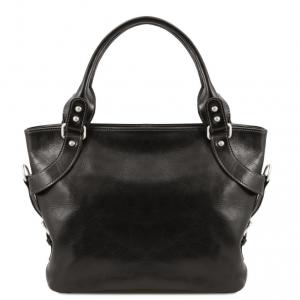 Tuscany Leather TL140899 Ilenia - Leather shoulder bag Black