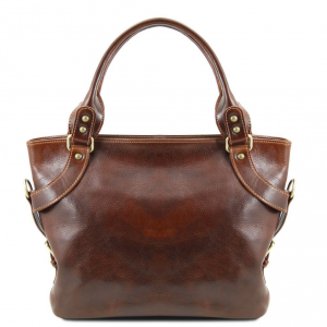 Tuscany Leather TL140899 Ilenia - Leather shoulder bag Brown