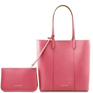 Tuscany Leather TL141709 Dafne - Borsa shopper in pelle Rosa Antico