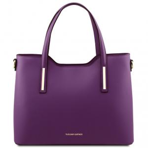 Tuscany Leather TL141412 Olimpia - Leather tote Purple