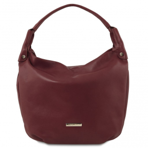 Tuscany Leather TL141721 TL Bag - Borsa hobo in pelle morbida Bordeaux