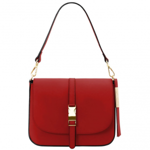 Tuscany Leather TL141598 Nausica - Leather shoulder bag Red
