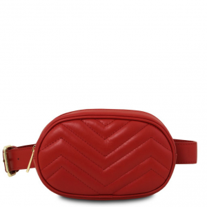 Tuscany Leather TL141699 TL Bag - Marsupio in pelle morbida Rosso