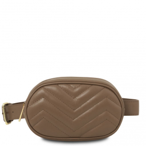 Tuscany Leather TL141699 TL Bag - Soft leather fanny pack Dark Taupe