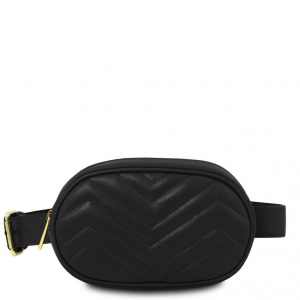 Tuscany Leather TL141699 TL Bag - Soft leather fanny pack Black
