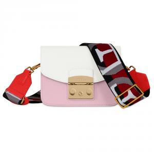 Shoulder bag Furla METROPOLIS BRAVA 1013925 CAMELIA e+GESSO d+KISS f