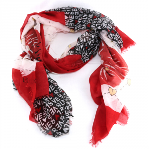 Scarf Liu Jo ROMANTICA N19333 T0300 FEEL ROUGE