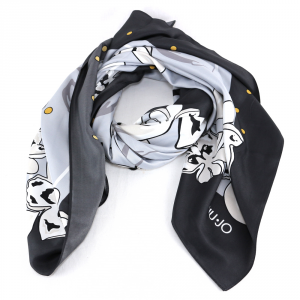 Headscarf Liu Jo FLOWERS N19321 T0300 NERO
