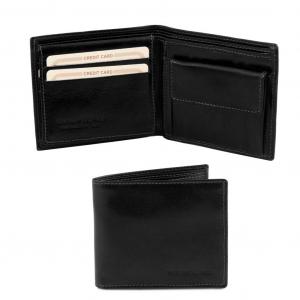 Tuscany Leather TL141377 Esclusivo portafoglio uomo in pelle 3 ante Nero