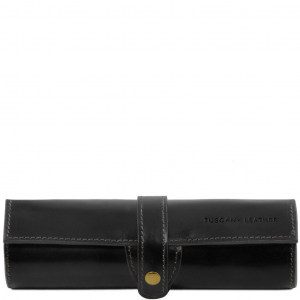 Tuscany Leather TL141620 Esclusivo porta penne in pelle Nero
