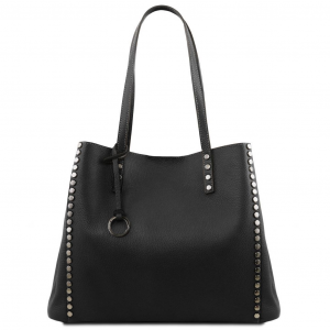 Tuscany Leather TL141735 TL Bag - Borsa shopping in pelle morbida Nero