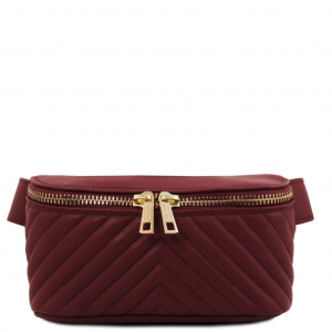 Tuscany Leather TL141741 TL Bag - Marsupio in pelle morbida Bordeaux