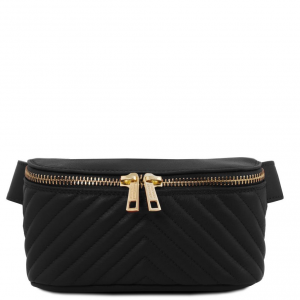 Tuscany Leather TL141741 TL Bag - Marsupio in pelle morbida Nero