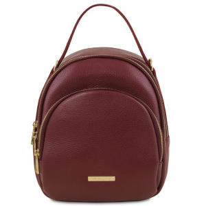 Tuscany Leather TL141743 TL Bag - Leather backpack for women Bordeaux
