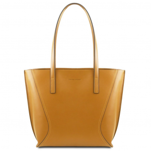 Tuscany Leather TL141790 Nemesi - Leather shopping bag Mustard